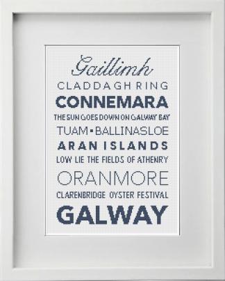 Galway Irish Counties Cross Stitch Pattern