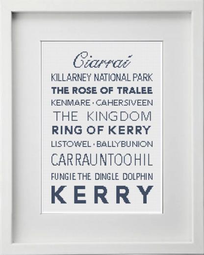 Kerry Irish Counties Cross Stitch Pattern