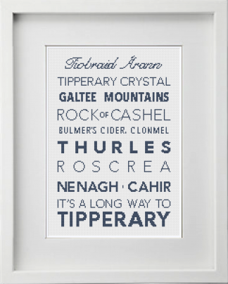 Tipperary Counties Cross Stitch Pattern
