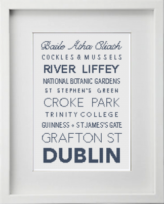 Dublin Cross Stitch Pattern