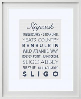 Sligo Counties Cross Stitch Pattern