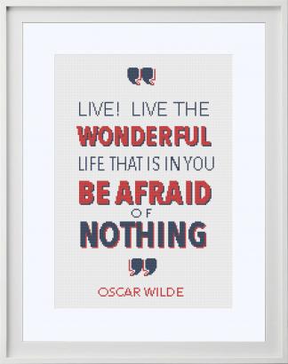 Oscar Wilde Live Cross Stitch