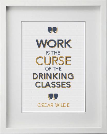 Oscar Wilde Work Cross Stitch Gold