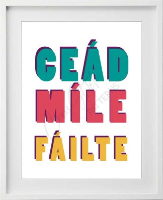 Céad Míle Fáilte Printable Art in Gaelic Language