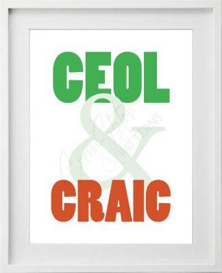 Ceol & Craic Printable Art