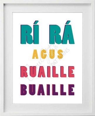 Rí Rá agus Ruaille Buaille Printable Art