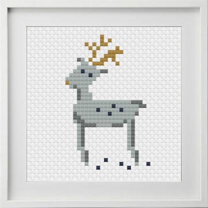 Scandi Reindeer Motif Cross Stitch Pattern
