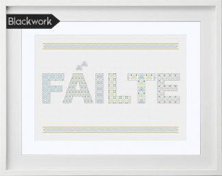 Fáilte Blackwork Pattern